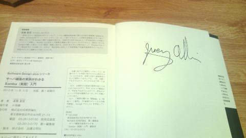 Jeremyさんのサイン